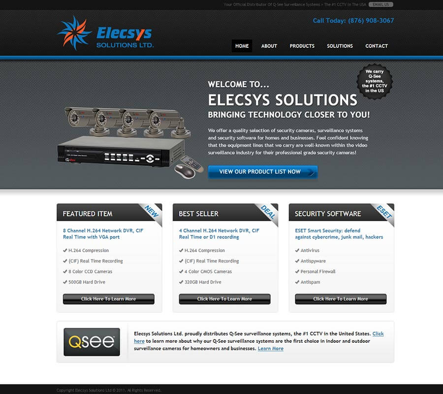 Elecsys website design